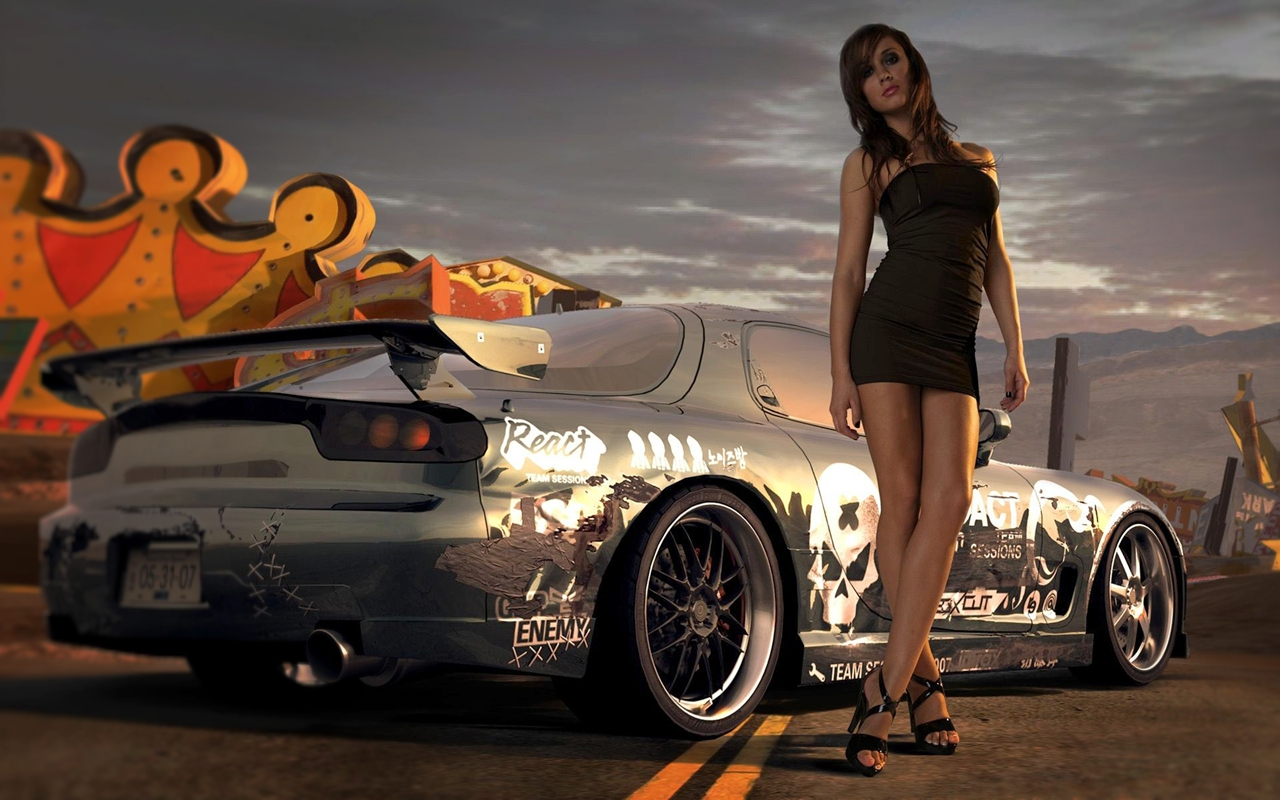 Have Racing car with girl nude movie phrase, simply